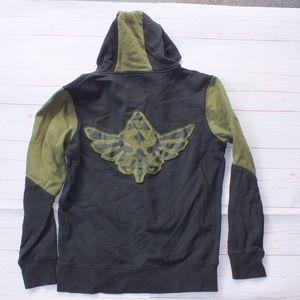 Bioworld Legend Of Zelda Hoodie Black Green Sz XL